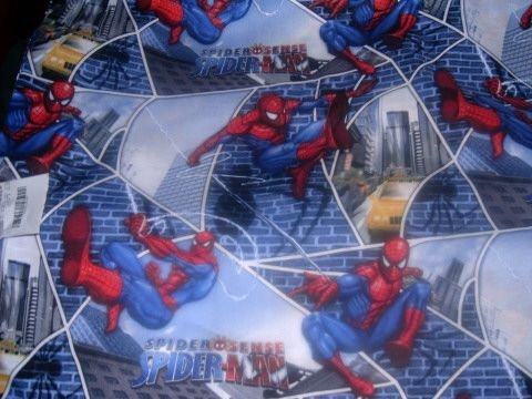 MadieBs Custom Spiderman Blue  Baby Bed Quilt Blanket