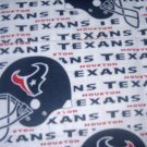 MadieBs Custom Houston Texas NFL Baby Bed Quilt Blanket