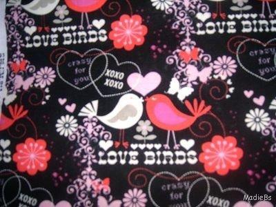 MadieBs Valentine Love Birds Custom Pillowcase w/Name