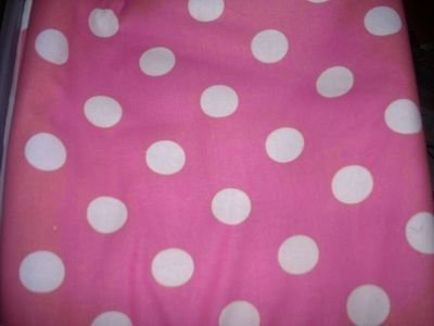 MadieBs White Dots on Pink  Custom  Pillowcase  w/Name