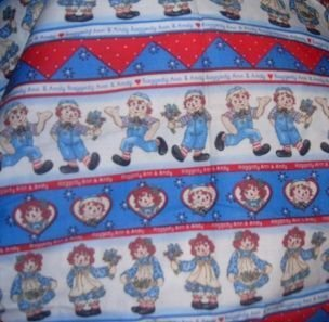MadieBs Raggedy Ann & Andy Travel Pillowcase/Name