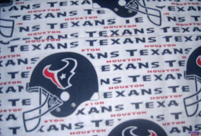 MadieBs Texans NFL Kinder Nap Mat Pad Cover set w/Name