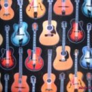 MadieBs Colorful Guitars Custom  Pillowcase  w/Name