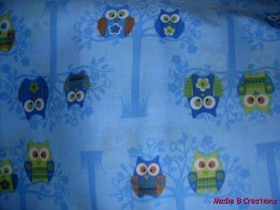 MadieBs Hoot Owls on Blue Custom  Pillowcase  w/Name