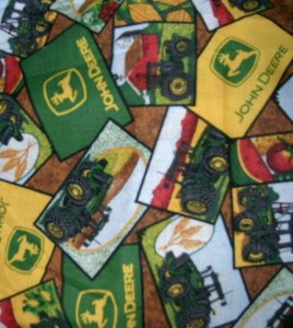 MadieBs John Deere Patch  Custom  Window Valance New