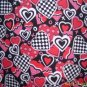 MadieBs Multi Hearts Red Custom Smock Cobbler Apron