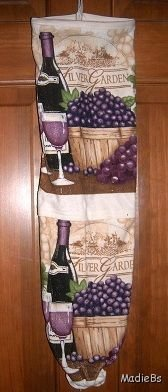 MadieBs Fruit of the Vine  Plastic Bag Holder Dispenser