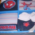Marvel Spiderman 4pc. 100% Cotton Set NIB 0 to 6 mos.