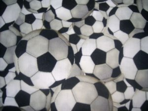 MadieBs  Soccer Balls Crib Toddler Bed Sheet Set New
