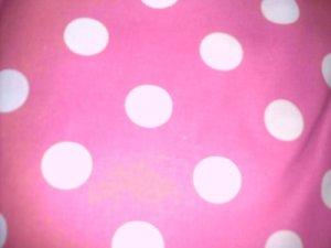 MadieBs  Pink and White Dot Crib Toddler Bed Sheet Set New