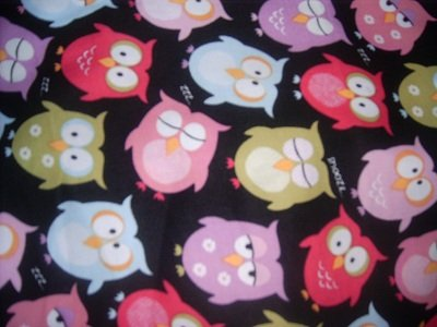 MadieBs Colorful Owls  Crib Toddler Bed Sheet Set New
