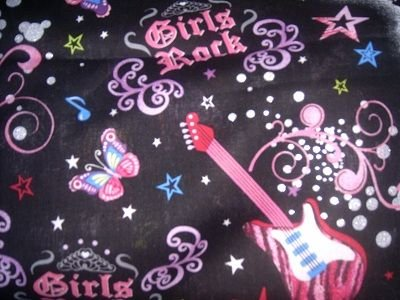 MadieBs Girls Rock Guitar  Nap Mat Pad Cover w/Name