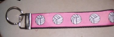 MadieBs Volley Ball Pink Key Fob Wristlet New