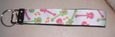 MadieBs Guitars Music Key Fob Wristlet New
