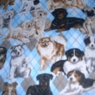 MadieBs Precious Dogs on Blue Personalized Pillowcase