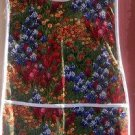 Oh My Texas Wild Flwers Blue Bonnets Paint Brushes Custom Smock Cobbler Apron
