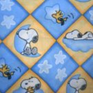 MadieBs  Snoopy Blue @ Yellow Cotton  Personalized Custom  Pillowcase  w/Name
