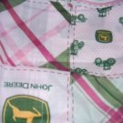 MadieBs /John Deere Pink Plaid  Crib Sheet Custom New