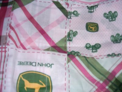 MadieBs Custom John Deere Pink Plaid Crib  Bumper Pads