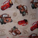 MadieBs Set of 2 Mater Cars Tan Cotton  Crib Sheets