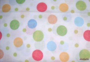 MadieBs Set of 2 Multi Colored Polka Dot  Cotton  Crib Sheets