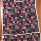 MadieBs Country Patchwork Hearts  Cotton Fabric Custom Smock Cobbler Apron