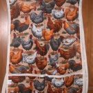 MadieBs Multi Hens and Roosters Cotton Fabric Custom Smock Cobbler Apron