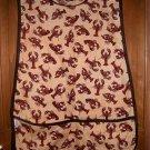 MadieBs Lobsters on Tan  Cotton Fabric Custom Smock Cobbler Apron