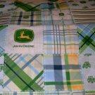 MadieBs John Deere Plaid Blue  Custom Cotton Toddler Bed Sheet Set 3 Pc