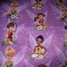 MadieBs Large Fairies Tinkerbelle  Custom Cotton Toddler Bed Sheet Set 3 Pc