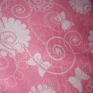 MadieBs Butterflies on Pink Custom Cotton Toddler Bed Sheet Set 3 Pc