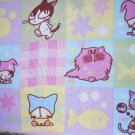 MadieBs Colorful  Plaid Checks with Cats  Custom Cotton Toddler Bed Sheet Set 3 Pc