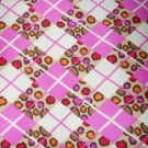 MadieBs Colorful  Plaid Pink with Cheeta Sposts Custom Cotton Toddler Bed Sheet Set 3 Pc