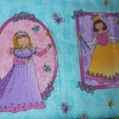 MadieBs Fairy Princess Portraits on Aqua Custom Cotton Toddler Bed Sheet Set 3 Pc