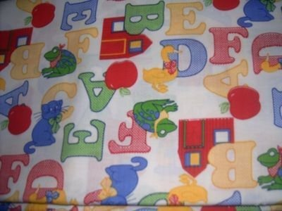 Oh My ABC'S Primary Colors Nap Mat Pad Cover w/Name