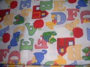 Oh My ABC&#039;S Primary Colors Nap Mat Pad Cover w/Name