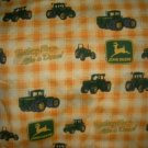 MadieBs Set of 2 John Deere Green & Yellow Paid Cotton  Crib Sheets