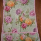 MadieBs Pink Yellow Roses on Green  Cotton New Custom Smock Cobbler Apron