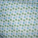 MadieBs Set of 2  Blue and Green Polka Dot Fitted  Cotton  Crib Sheets