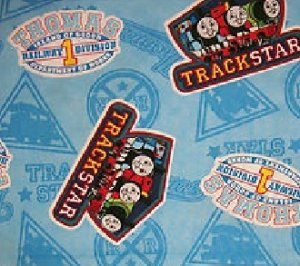 MadieBs Thomas and Friends Blue Nap Mat Pad Cover w/Name