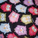 MadieBs Sweet Owls on Black Cotton Nap Mat Pad Cover w/Name