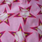 MadieBs BaseBalls on Pink Cotton Nap Mat Pad Cover w/Name