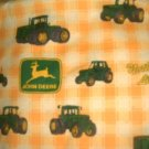 MadieBs Set of 2 John Deere Yellow Plaid Fitted  Cotton  Crib Sheets