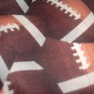MadieBs Set of 2 Foot Ball Football Browns Fitted  Cotton  Crib Sheets