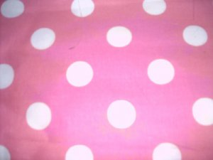 Madiebs Pink and White Polka Dot  Custom Toddler Bed Sheet Set  with Quilt