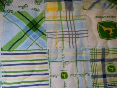 MadieBs John Deere  with Dots Custom  Toddler Bed  Quilt Blanket
