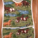 MadieBs Horses in the Meadow  Custom Smock Cobbler Apron