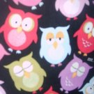 MadieBs Cute Colorful Owls  Nap Mat Pad Cover 3 piece set  w/Name