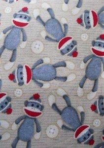 MadieBs Sock Monkey New Cotton  Crib/Toddler Bed Sheet Set
