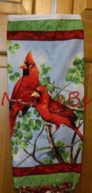 MadieBs Beautiful Red Cardinals Plastic Bag Holder Dispenser